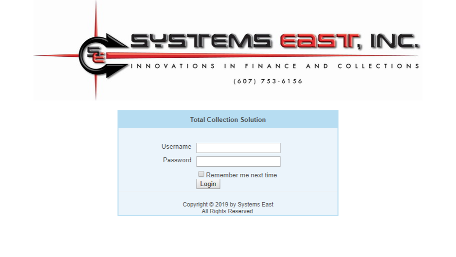 Total Collection Solution Screen Capture